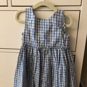 Blue and white gingham girls Ralph Lauren dress